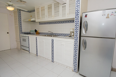 Kitchen of Tres Palmas vacation rental villa in Cozumel